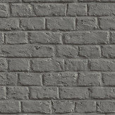 Metropolitan Stories Brick Wall Charcoal Grey Wallpaper - Product code: 36912-1