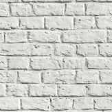 Metropolitan Stories Brick Wall White Wallpaper
