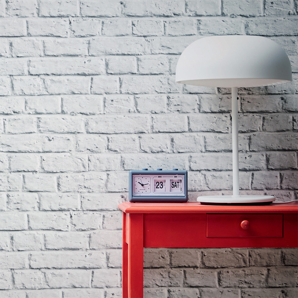 Metropolitan Stories Brick Wall White Wallpaper - Product code: 36912-2