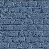 Metropolitan Stories Brick Wall Blue Wallpaper