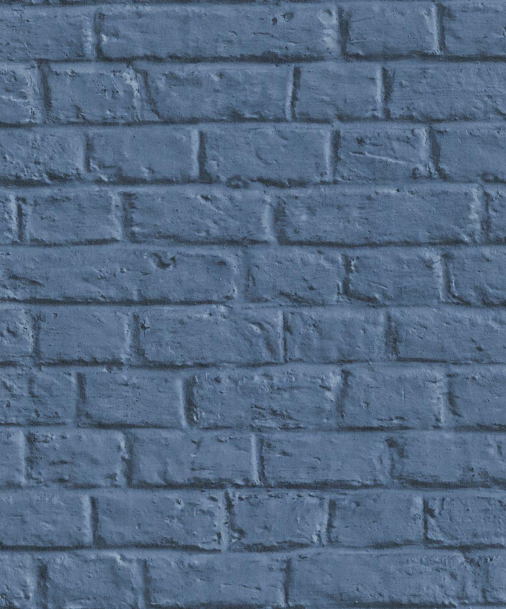 Metropolitan Stories Brick Wall Blue Wallpaper - Product code: 36912-3