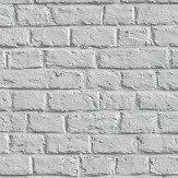 Metropolitan Stories Brick Wall Silver Grey Wallpaper
