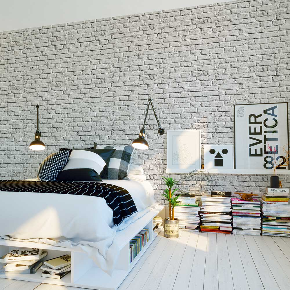 Metropolitan Stories Brick Wall Silver Grey Wallpaper - Product code: 36912-4