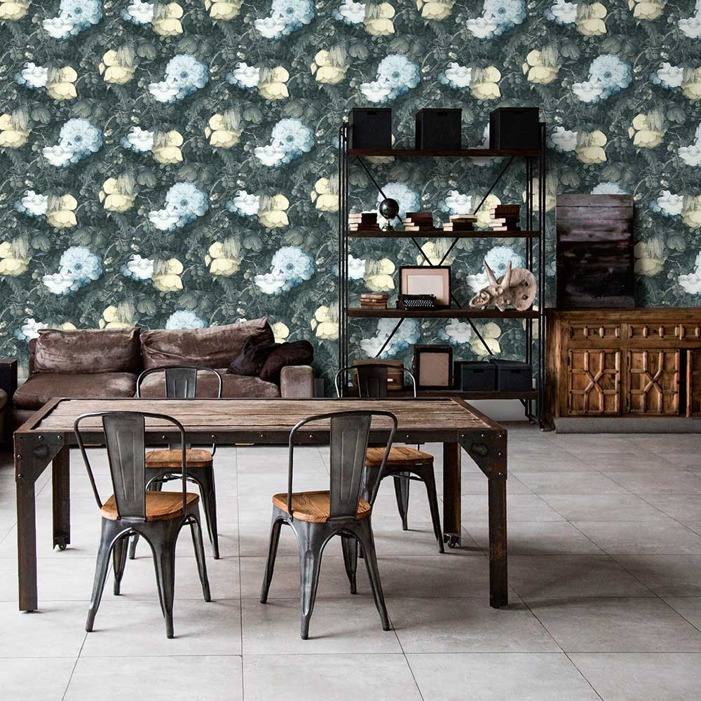 Metropolitan Stories Dutch Floral Grey Wallpaper - Product code: 36921-3