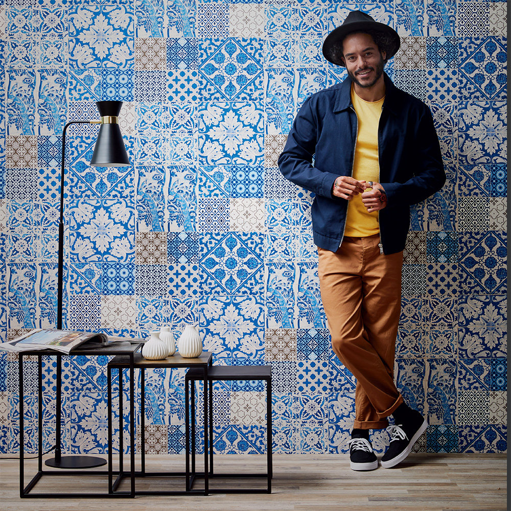 Metropolitan Stories Dutch Tile Blue Wallpaper - Product code: 36923-1