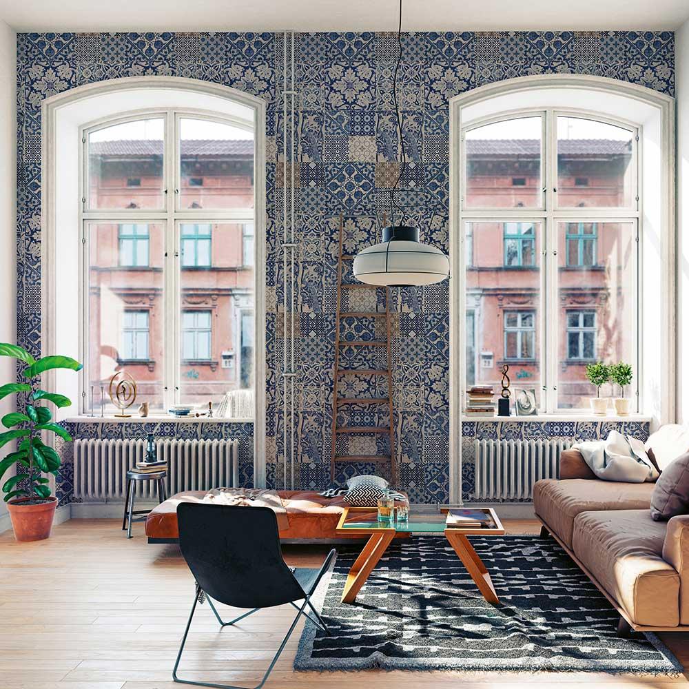 Dutch Tile Wallpaper - Blue - by Metropolitan Stories