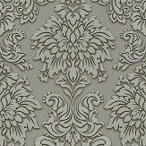 Metropolitan Stories Contemporary Damask Grey Wallpaper