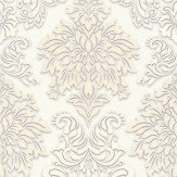 Metropolitan Stories Contemporary Damask White Wallpaper - Product code: 36898-2