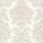 Metropolitan Stories Contemporary Damask White Wallpaper