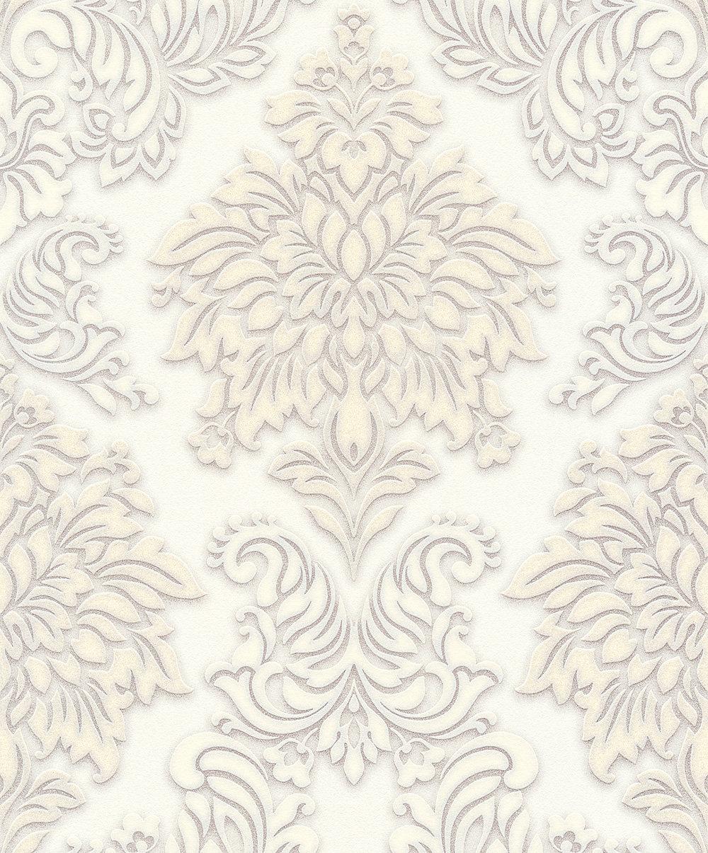 Metropolitan Stories Contemporary Damask White Wallpaper - Product code: 36898-2