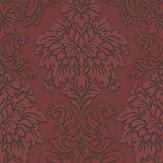 Metropolitan Stories Contemporary Damask Crimson Wallpaper