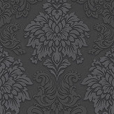 Metropolitan Stories Contemporary Damask Black Wallpaper - Product code: 36898-4
