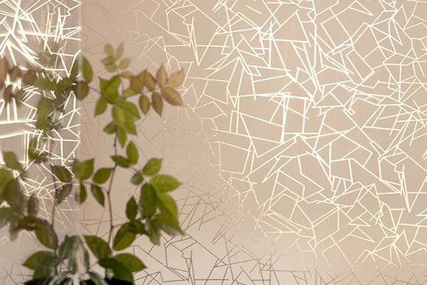 Erica Wakerly Angles  Gold / Nude Wallpaper