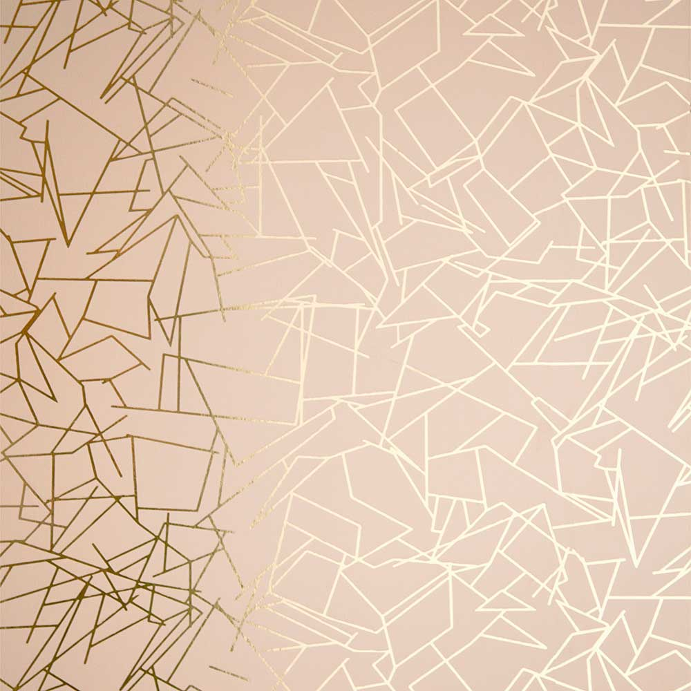 Erica Wakerly Angles  Gold / Nude Wallpaper - Product code: ANG011