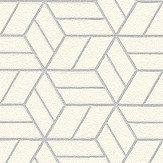 Metropolitan Stories Geo Hexagon White Wallpaper