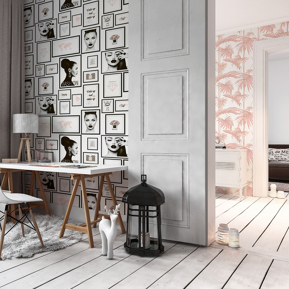 Fashion Wallpaper - Black / White - by Metropolitan Stories