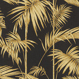 Metropolitan Stories Palm Black / Gold Wallpaper