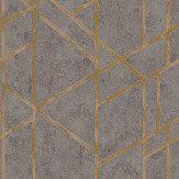 Metropolitan Stories Geometric Charcoal Grey Wallpaper - Product code: 36928-1