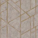 Metropolitan Stories Geometric Grey Wallpaper