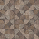 Metropolitan Stories Wood Geo Brown / Grey Wallpaper - Product code: 36913-1