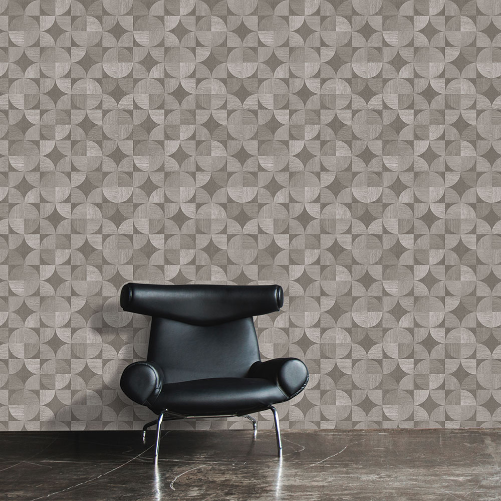 Metropolitan Stories Wood Geo Grey Wallpaper - Product code: 36913-3