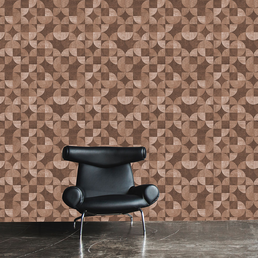 Metropolitan Stories Wood Geo Brown Wallpaper - Product code: 36913-4