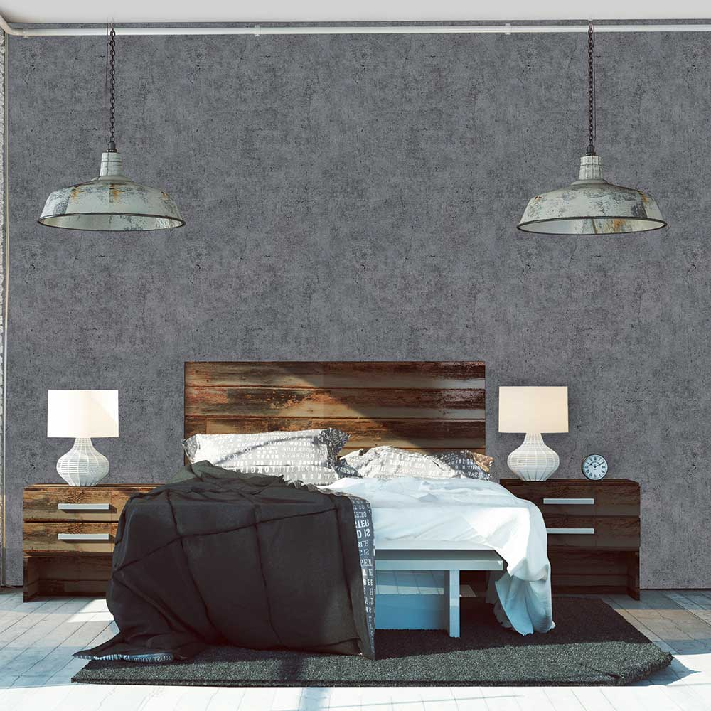 Metropolitan Stories Concrete Charcoal Grey Wallpaper - Product code: 36911-5