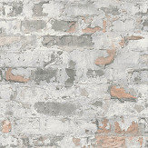 Metropolitan Stories Distressed Plaster Grey Wallpaper - Product code: 36929-2