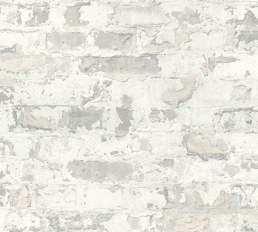 Metropolitan Stories Distressed Plaster Grey Wallpaper - Product code: 36929-3