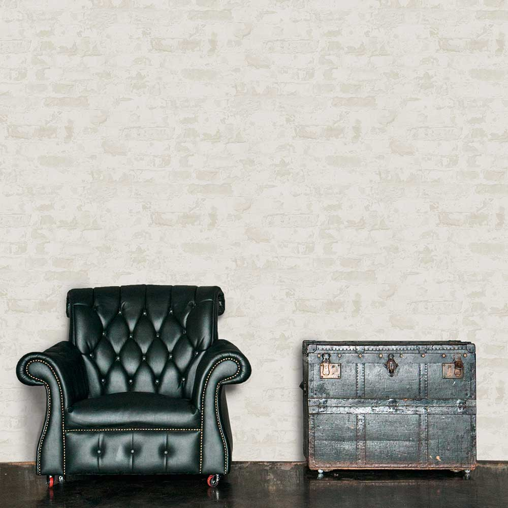 Metropolitan Stories Distressed Plaster White Wallpaper - Product code: 36929-4