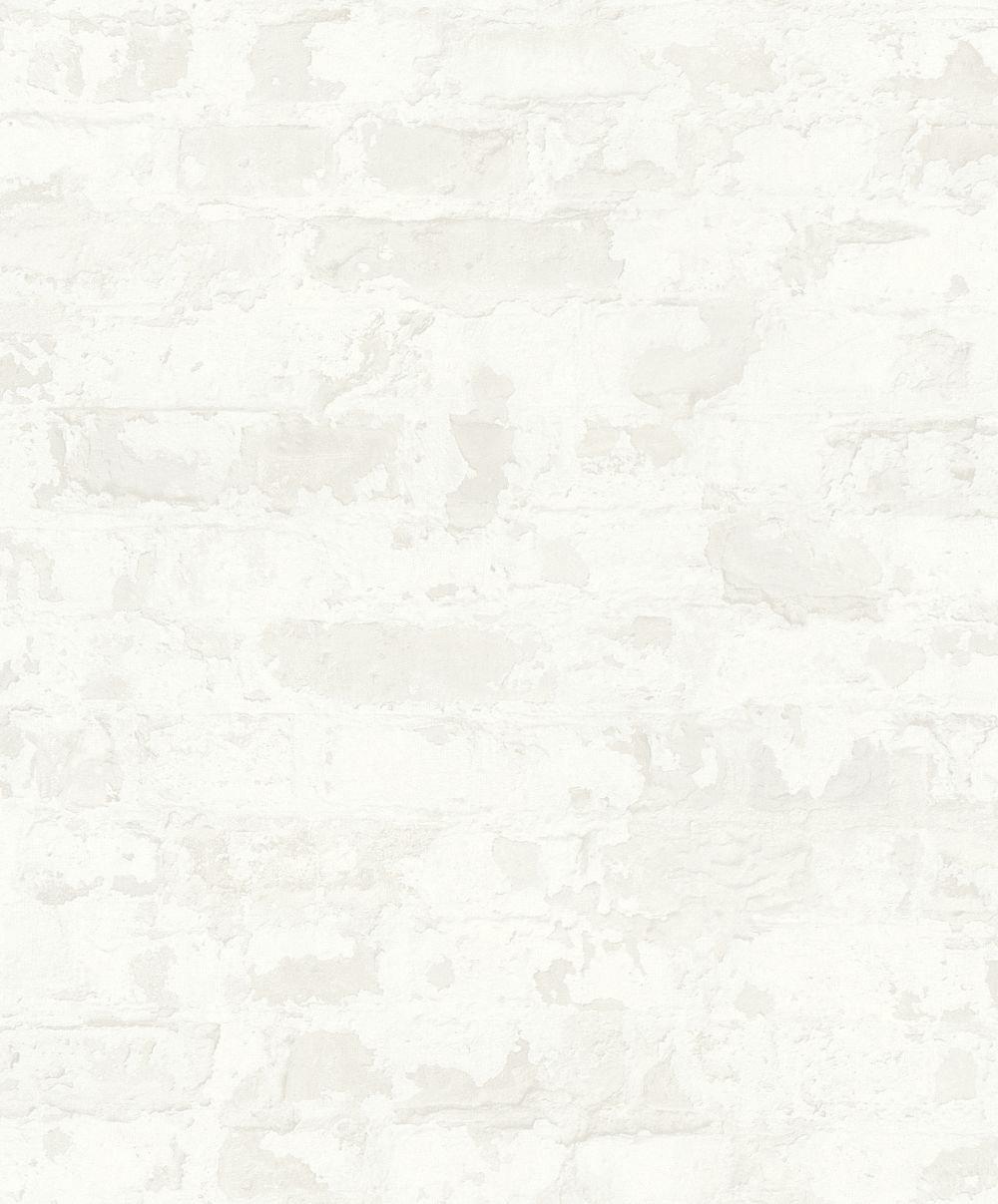 Metropolitan Stories Distressed Plaster White Wallpaper - Product code: 36929-4