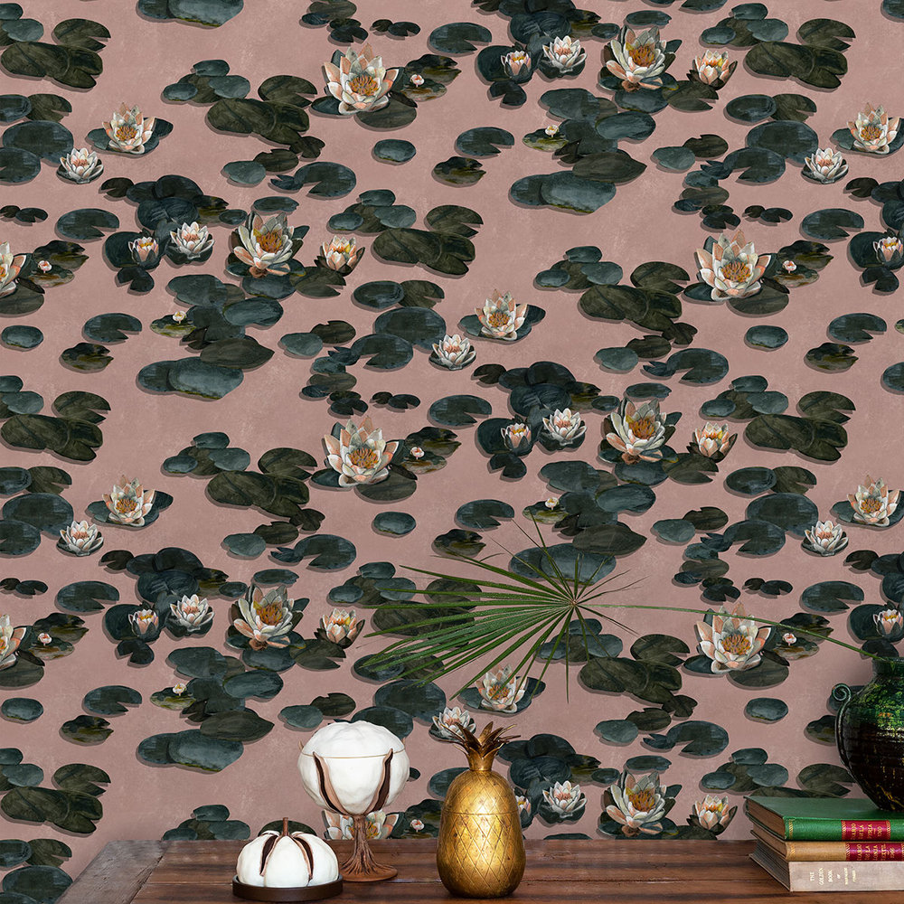 Coordonne Nenufares Rose Wallpaper - Product code: 8000004
