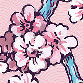 Coordonne Paravent des Amandiers Pompadour Pink Wallpaper - Product code: 8000005