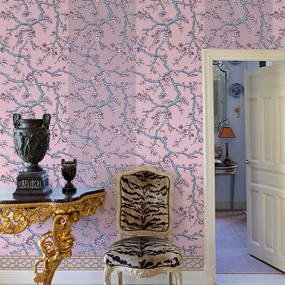 Paravent des Amandiers Wallpaper - Pompadour Pink - by Coordonne