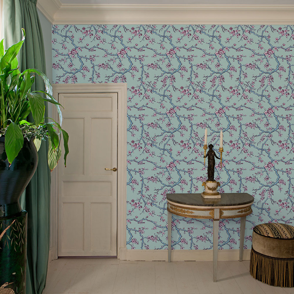 Coordonne Paravent des Amandiers Absinthe Green Wallpaper - Product code: 8000006