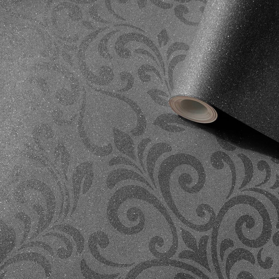 Lipsy London Luxe Damask Charcoal Wallpaper - Product code: 144804