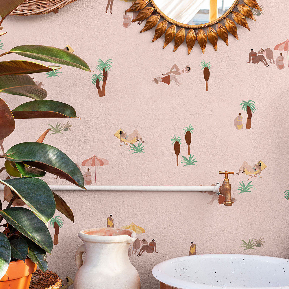 Coordonne One day at the beach Pink Sand Wallpaper - Product code: 8000040