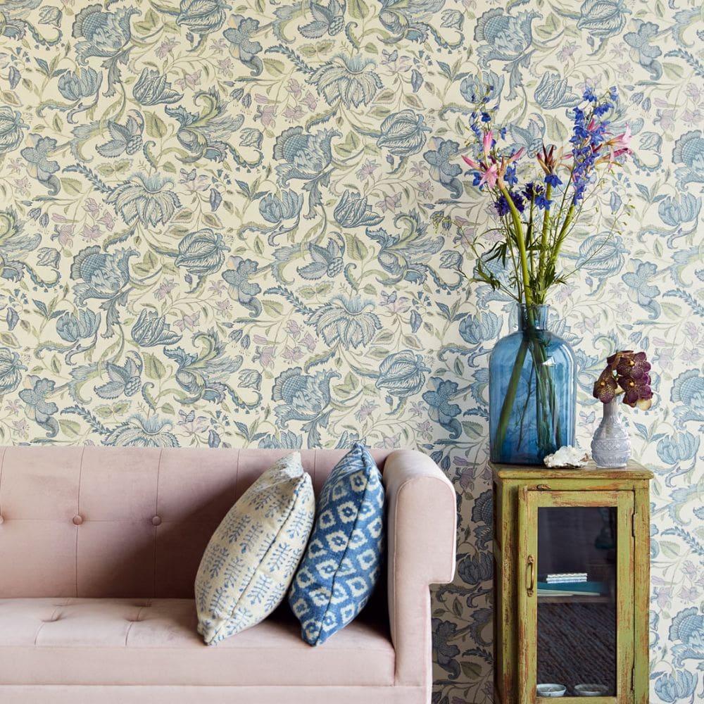 Eijffinger Sundari Trail Blue Wallpaper - Product code: 375100
