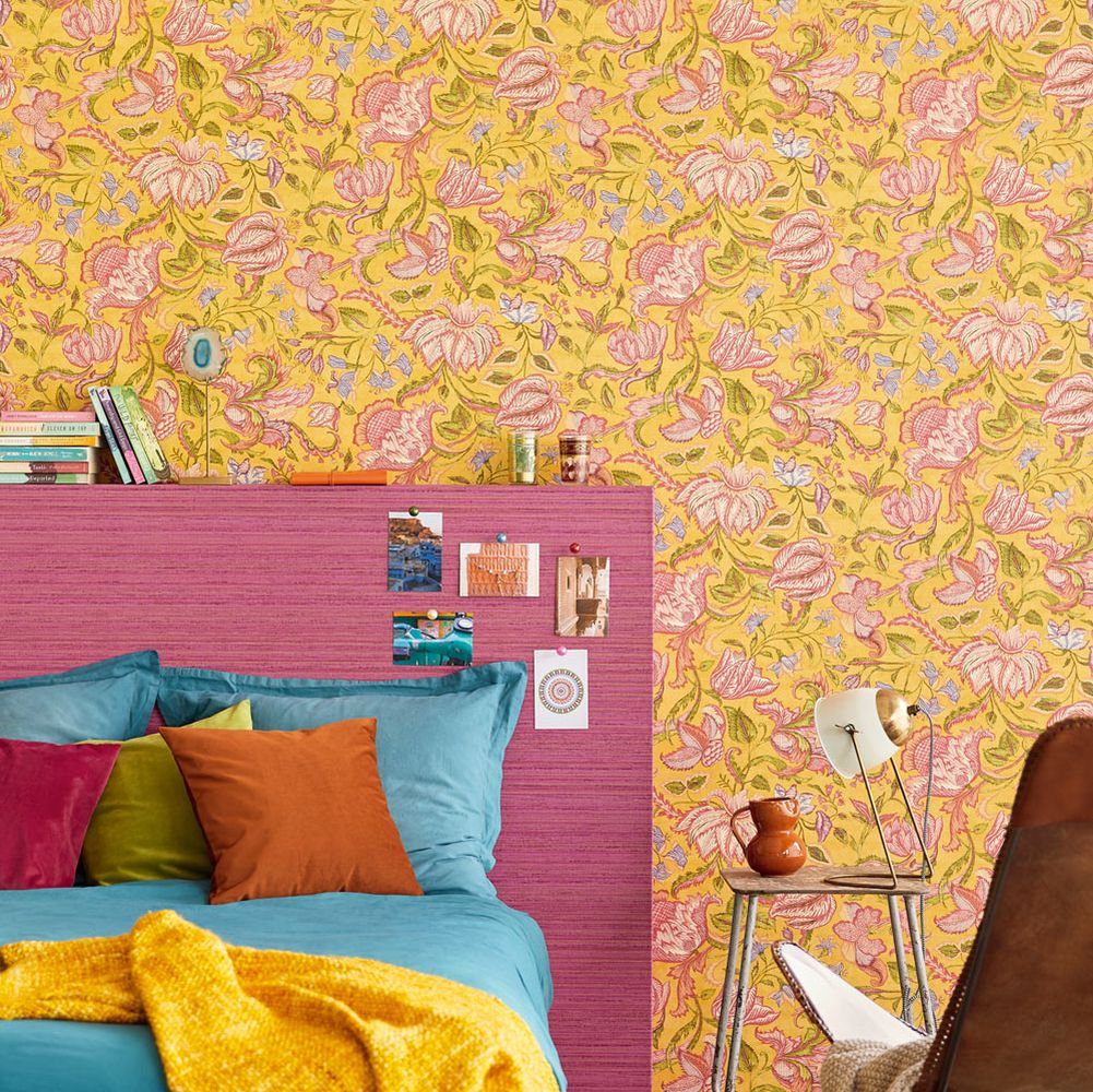 Eijffinger Sundari Trail Yellow Wallpaper - Product code: 375103