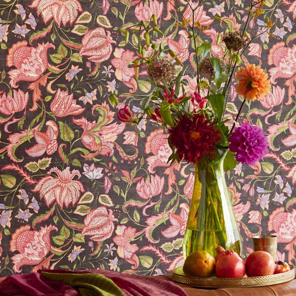 Eijffinger Sundari Trail Black Wallpaper - Product code: 375104