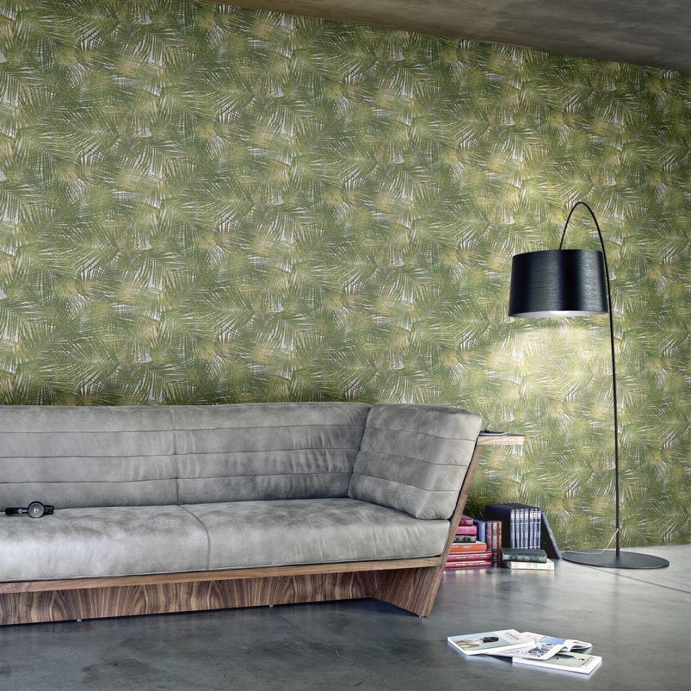 Lamborghini Miura Palm Feature Green Wallpaper - Product code: Z44850