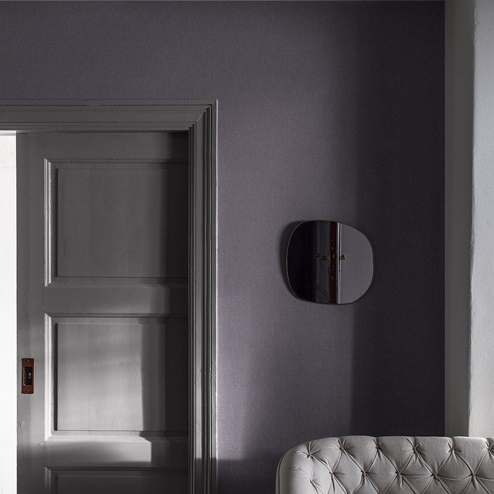 Boråstapeter Linen Plain Dark Plum Wallpaper - Product code: 4436
