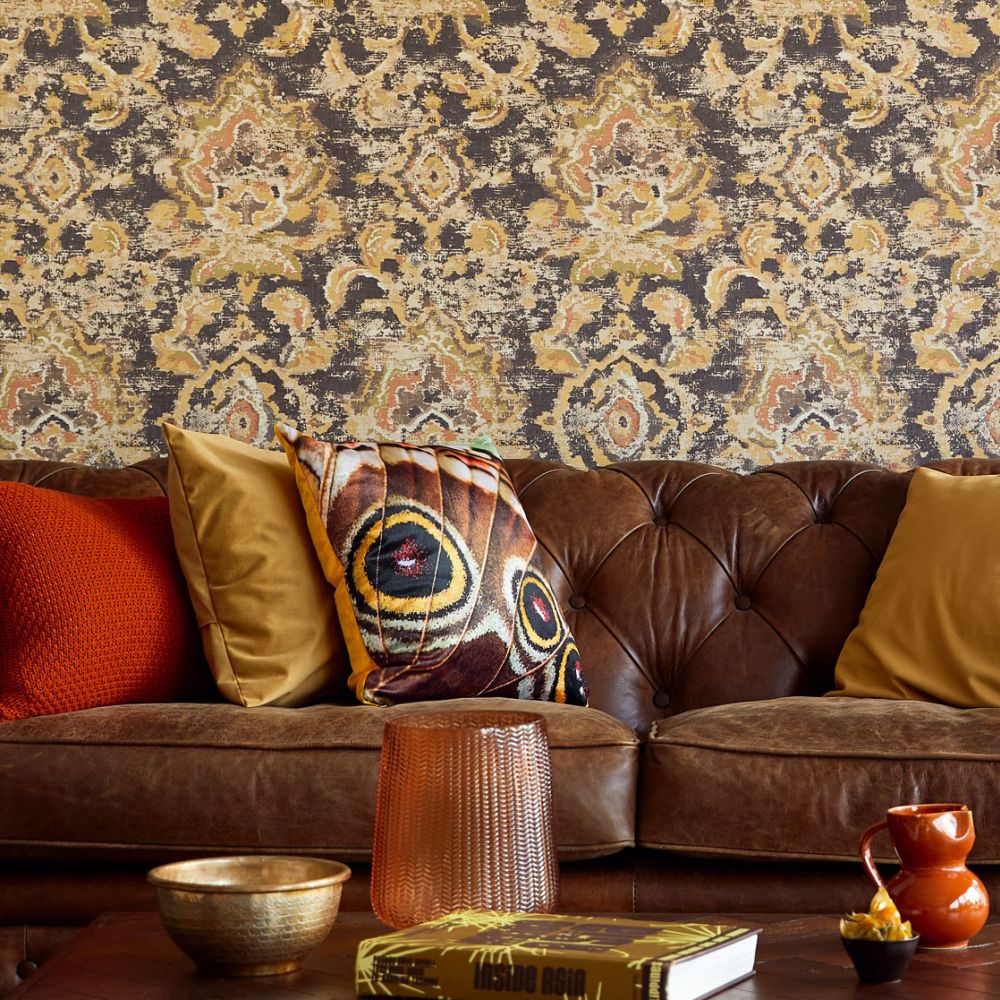 Eijffinger Sundari Damask Black Wallpaper - Product code: 375114