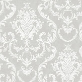 SK Filson Scroll Damask Silver Wallpaper - Product code: DE41842