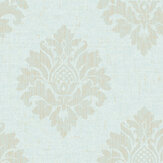 SK Filson Textured Damask Aqua Wallpaper - Product code: FI2006