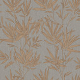 SK Filson Botanical Leaves Copper Wallpaper