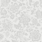 SK Filson Floral Trail Silver Wallpaper - Product code: FI2402