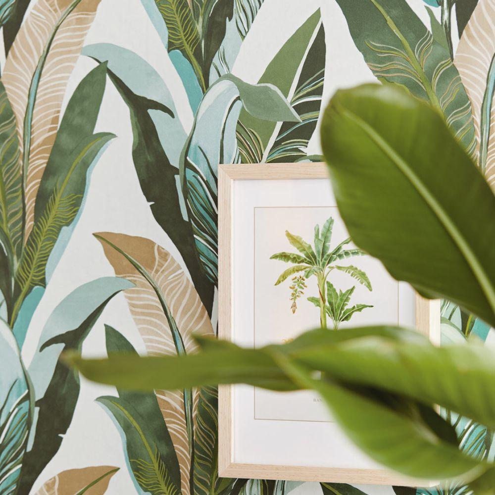Eijffinger Jungle Palm Aqua Wallpaper - Product code: 384502