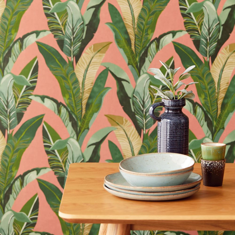 Eijffinger Jungle Palm Warm Pink Wallpaper - Product code: 384503