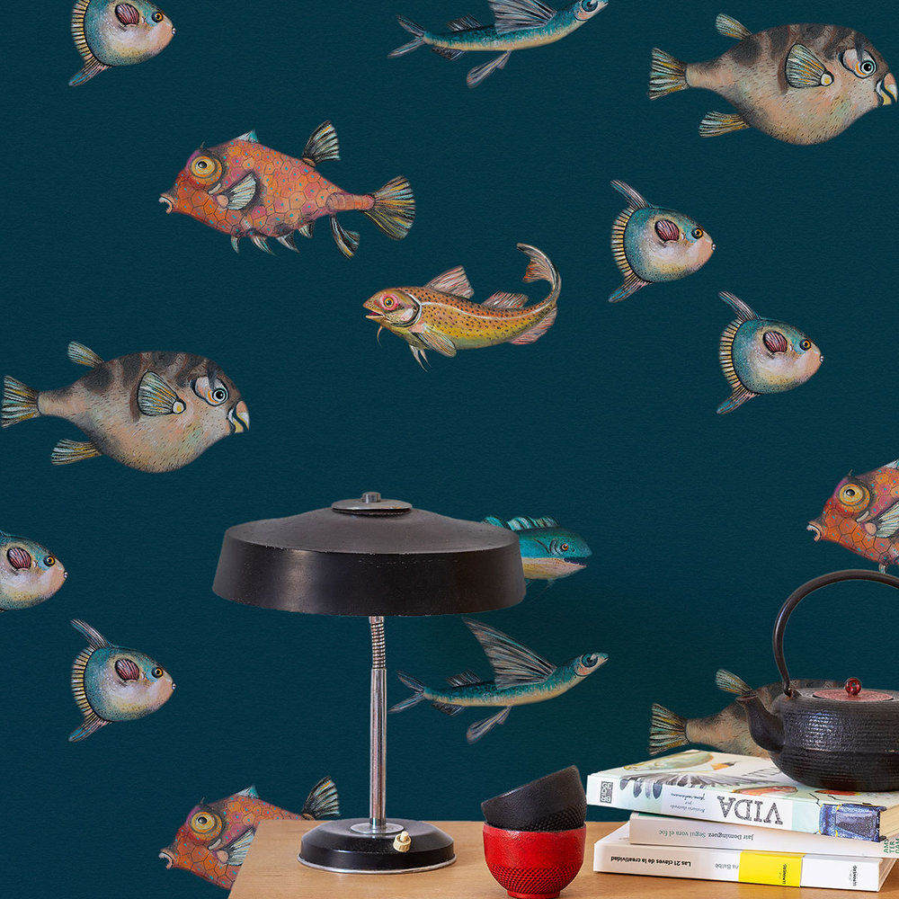 Peces Santamans Wallpaper - Marina - by Coordonne